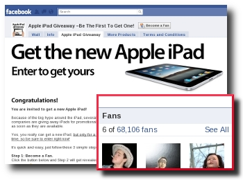 Apple iPad Scam on Facebook