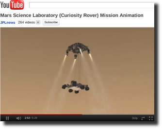Mars Curiosity Rover Mission Animation